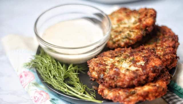 keto chicken fritters