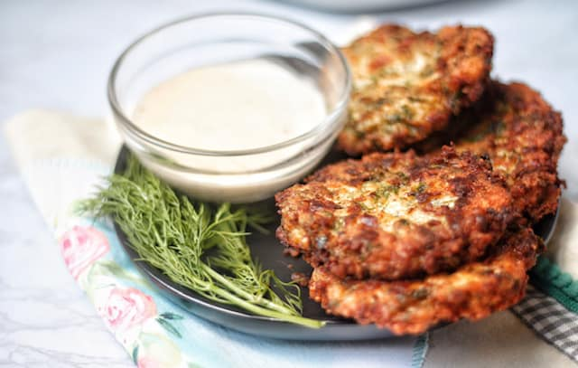easy keto chicken fritters