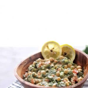 how to make chickpeas salad