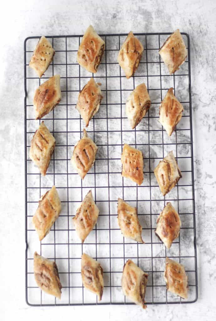 Irresistible crusty golden homemade Kleicha cookies with soft date centers