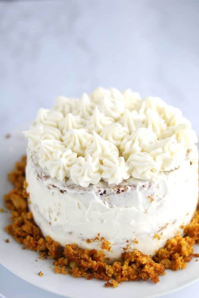 carrot cake from scratch with cream cheese frosting