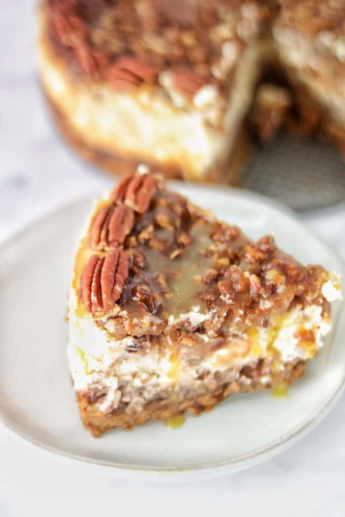 The Philadelphia caramel-pecan cheesecake is so crunchy and sweet . You have second s!