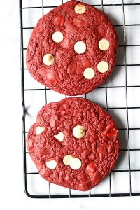 RED VELVET COOKIES USING CAKE MIX