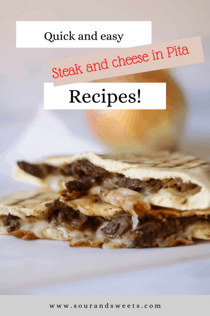 steak and cheese in pita
