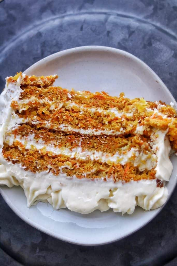 homemade carrot cake from scratch