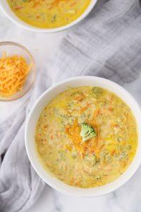 broccoli cheddar soup with heavy cream