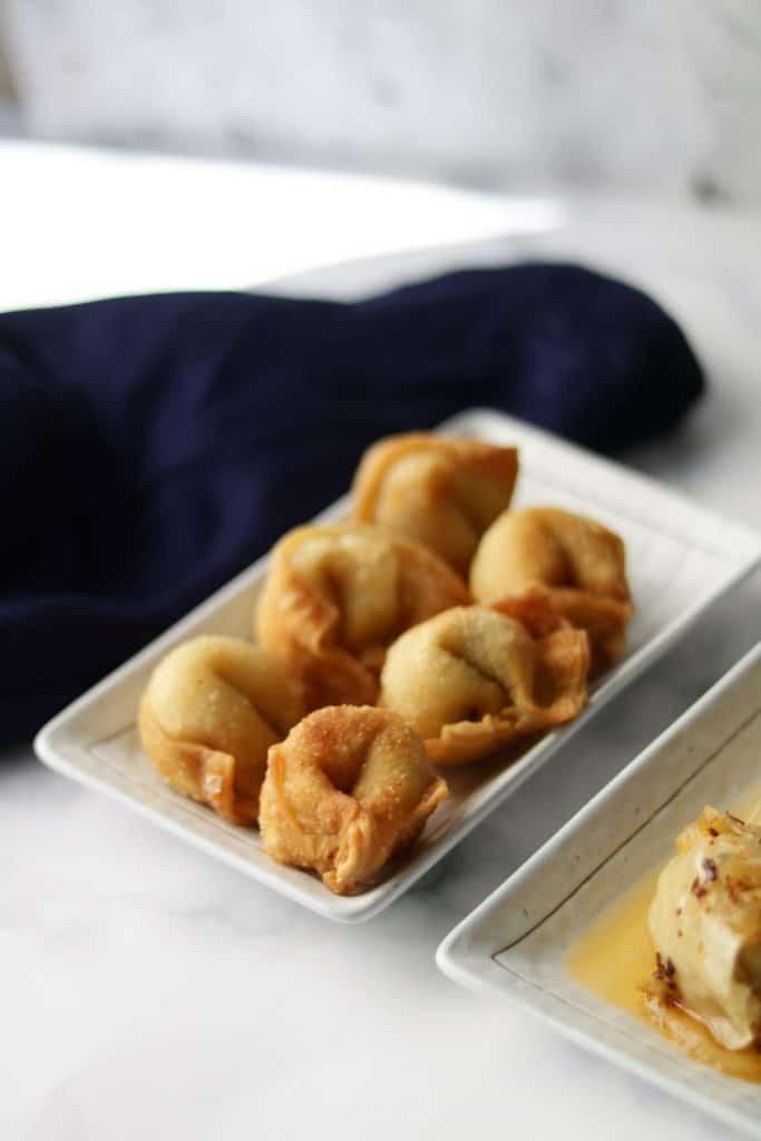 fried chicken wontons
