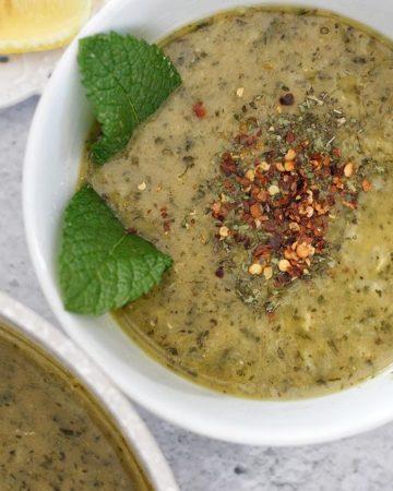 Mint Lentil Soup Recipe