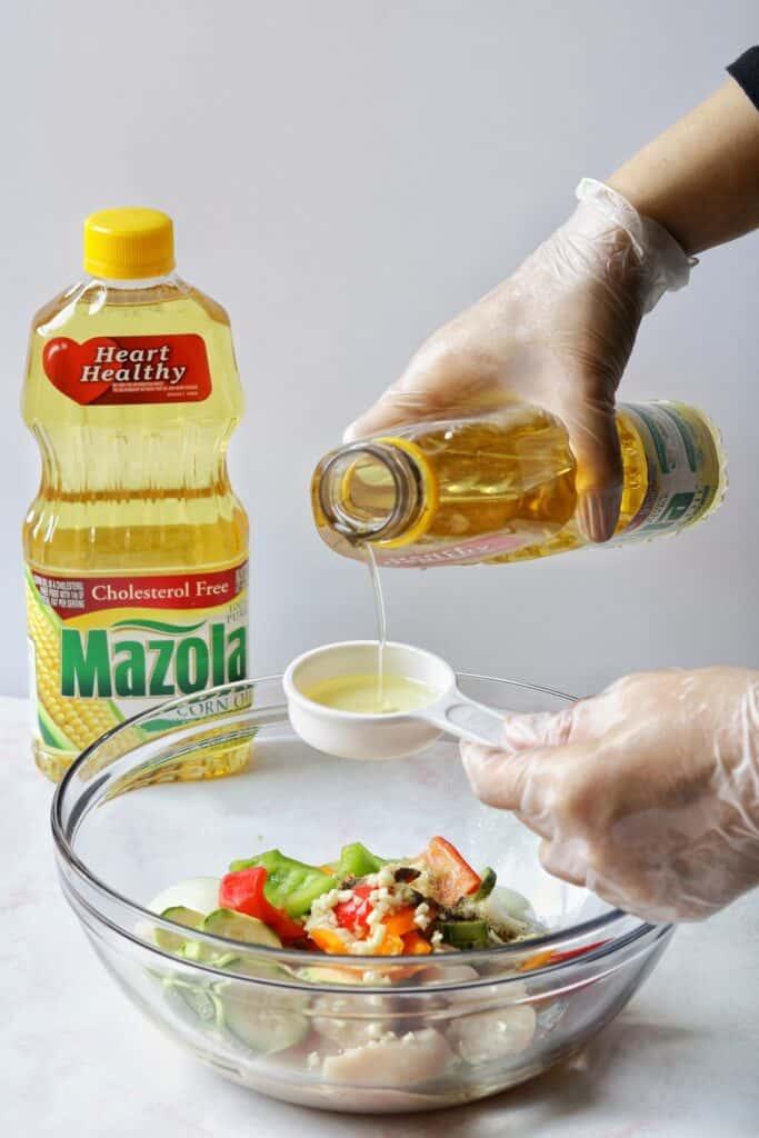 chicken kabobs with mazola oil