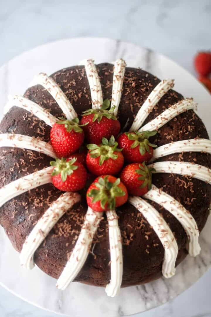 Deliciously tasting, thick and creamy Chocolate Bundt Cake with Cake Mix and pudding.