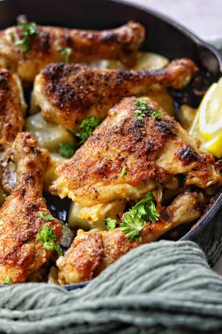 These delicious ranch chicken thighs are juicy and tender on the inside with just the right crunch on the inside.