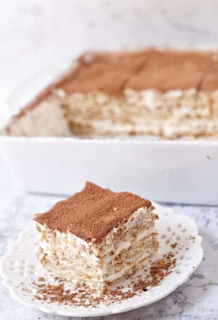 Our No-Bake Nescafe Cake is a melty cake full of bursting flavors . It's both bitter and sweet !